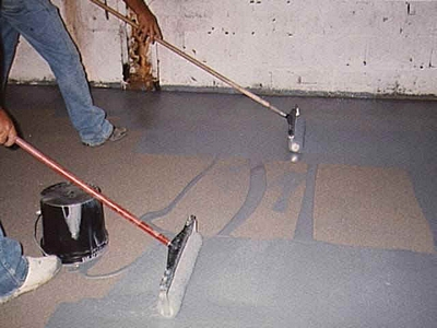 floor epoxy applicaton